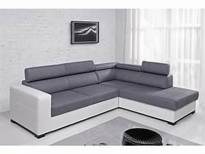 Canape Angle Cuir Gris : photos canap d 39 angle cuir gris anthracite ~ Teatrodelosmanantiales.com Idées de Décoration