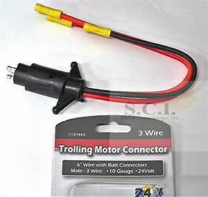 Boater Sports Trolling Motor Connector 24 Volt 3 Wire Male
