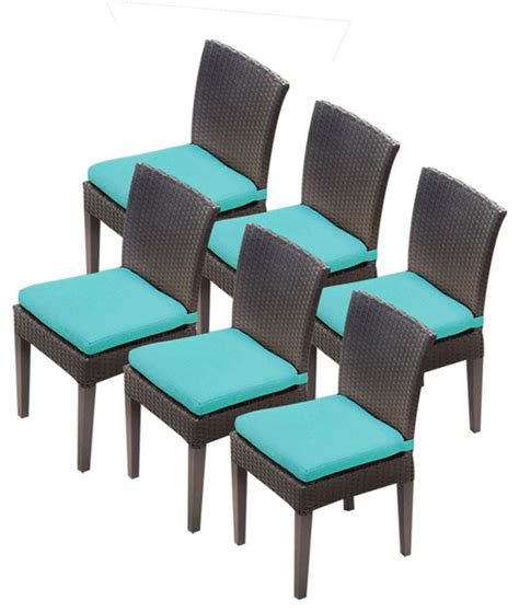 6 pluto saturn armless dining chairs 2 for 1 cover set
