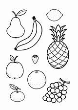 Fruit Coloring Drawing Sheets Pages Drawings Outline Together Edupics sketch template