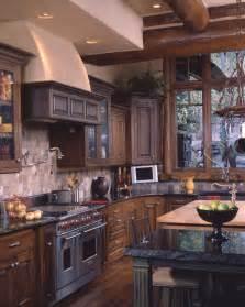 Rustic Log Home Kitchen Designs