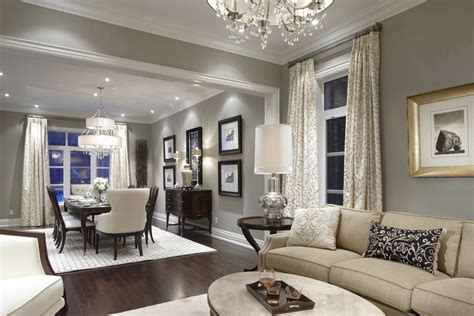 medium light grey walls with contrasting dark wood floor