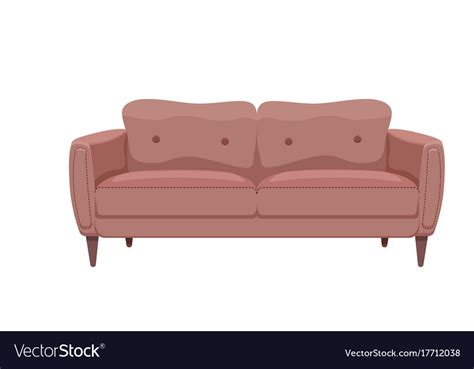 sofa vector sofa and couches colorful cartoon royalty free vector image