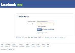 Facebook Login Page Account