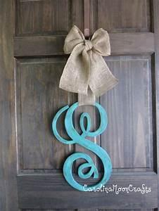 single letter monogram wooden door decor 18 by With single letter monogram for front door