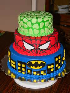 Hulk and Spider-Man Birthday Cake