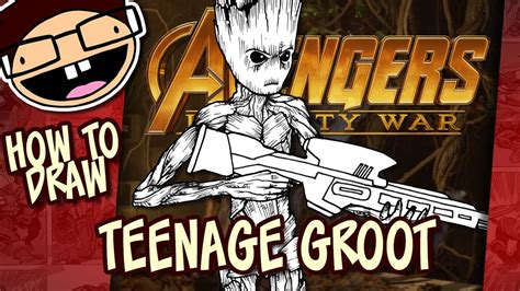 draw teenage groot avengers infinity war