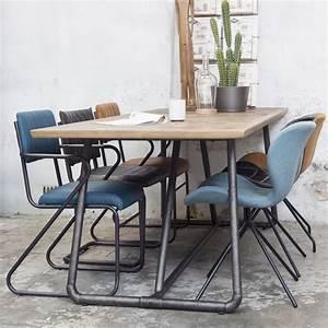 Esstisch Massivholz Günstig : industrie esstisch 240 x 100 cm esszimmertisch dinnertisch ~ Watch28wear.com Haus und Dekorationen
