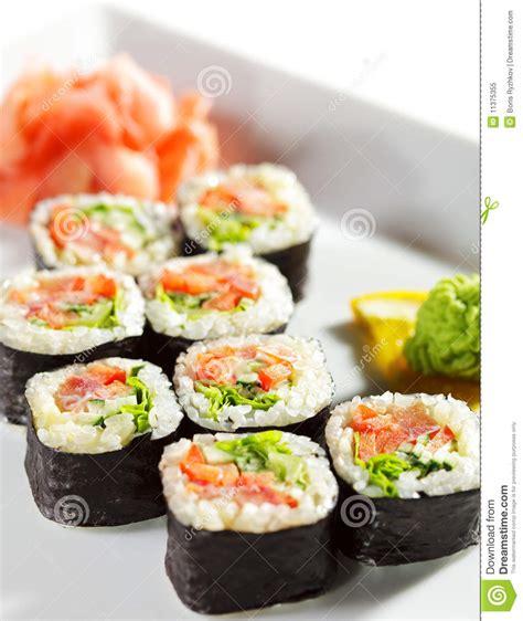 japanese cuisine maki sushi stock image image 11375355