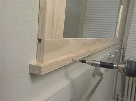 How To Make A Bathroom Mirror Frame by How To Frame A Bathroom Mirror How Tos Diy
