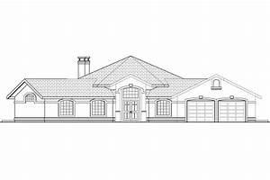 Front view elevation of house plans - House design plans