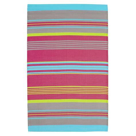 tapis d ext 233 rieur 224 rayures en polypropyl 232 ne multicolore 120 x 180 cm maisons du monde