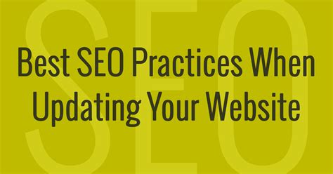 Top Seo Websites by Best Seo Practices When Updating Your Website Dallas