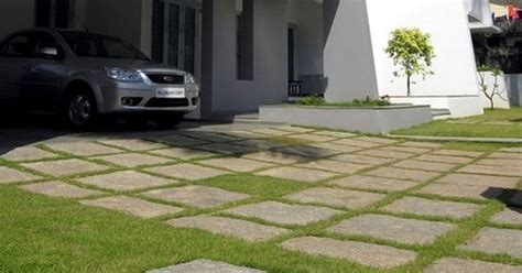 Cheap Driveway - inexpensive driveways greenery green driveway in