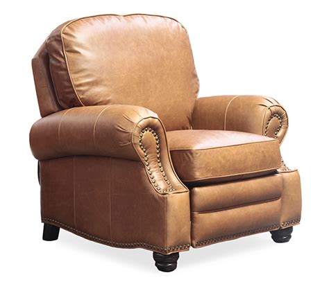 barcalounger leather recliner barcalounger longhorn ii chocolate remy genuine top grain