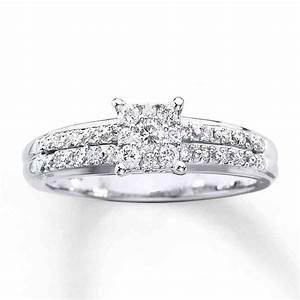 white gold round diamond engagement ring wedding and With round wedding rings white gold