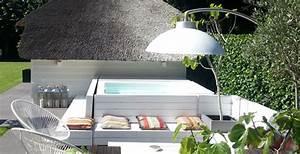 Lampe Exterieur Pour Terrasse : une lampe chauffante design pour votre terrasse equipement entretien ~ Teatrodelosmanantiales.com Idées de Décoration