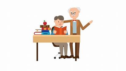 Clipart Student Cartoon Teaching Professor Svg Desk
