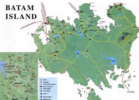 large batam island maps     print high