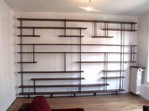 Fabriquer Une Bibliothèque Murale : fabrication de meubles sur mesure micheli design ~ Louise-bijoux.com Idées de Décoration