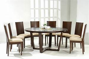 round dining tables for 8 dark walnut modern round With round modern dining room sets