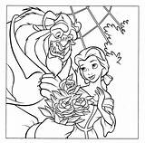 Disney Coloring Pages Belle Princess Colouring Printables Bella Beast Characters Para Walt sketch template