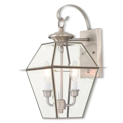 livex lighting westover  light brushed nickel outdoor