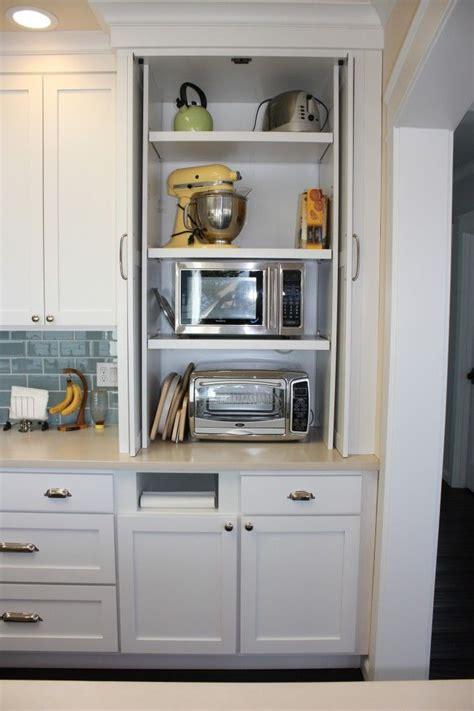 hidden microwave  toaster oven kitchen ideas