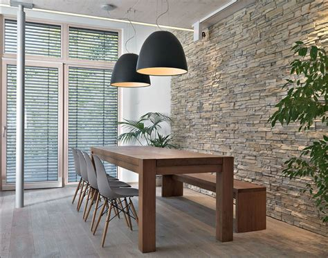 tables de salle a manger contemporaine salle 224 manger contemporaine 111 id 233 es de design r 233 ussi brick wall kitchen bricks and kitchens