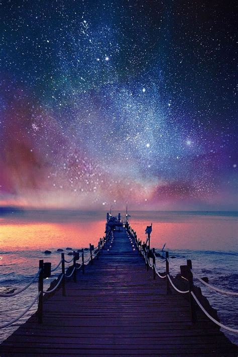 Resultado Imagem Para Beautiful Pink Starry Night