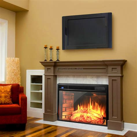 standing insert electric fireplace firebox