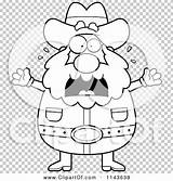 Prospector Freaking Coloring Cartoon Miner Chubby Outlined Clipart Cory Thoman Clip sketch template