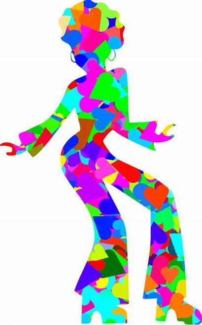 Disco Dancer Clipart Dance Colourful Svg Silhouette