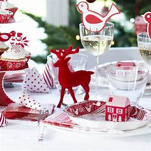 Red, Reindeer, Christmas, Table, Decoration, By, Bunting, U0026, Barrow