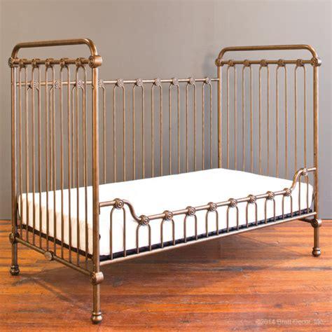 Bratt Decor Crib Gold by Baby Crib Vintage Gold