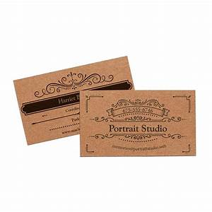 Kraft business cards vistaprint for Vistaprint kraft paper
