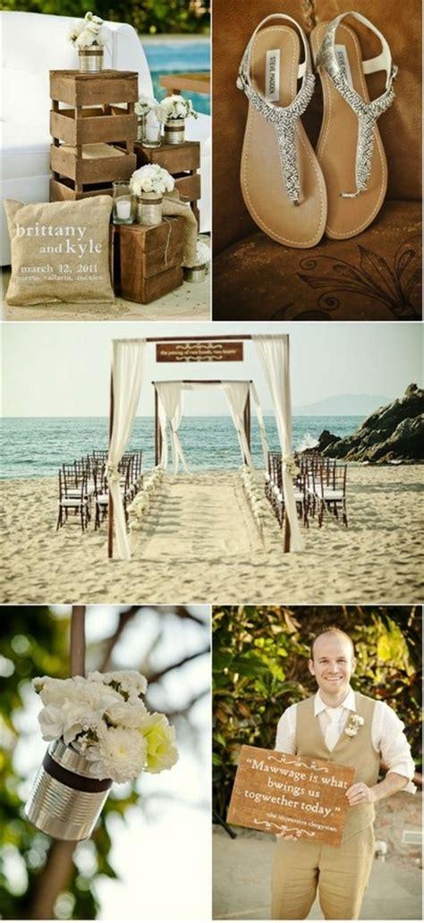 rustic beach wedding decor ideas beach wedding tips