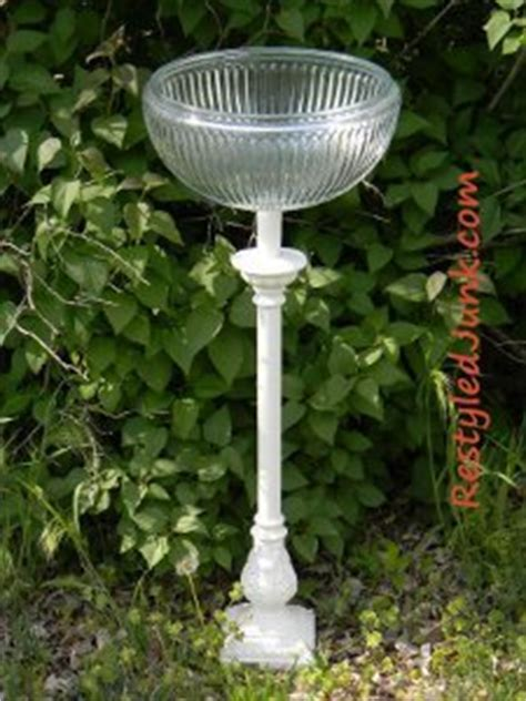 recycled light birdbath favecraftscom