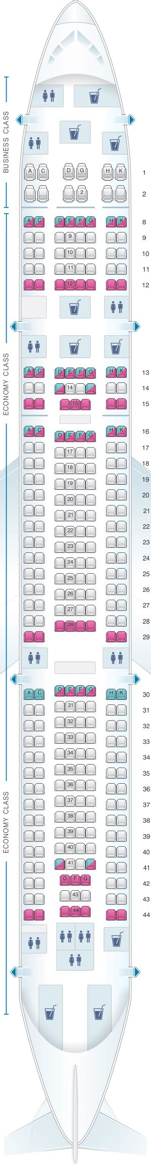 airbus a340 300 stoelindeling seat map hi fly airbus a340 300 tqm 300pax seatmaestro