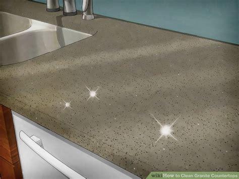 clean countertops 3 ways to clean granite countertops wikihow