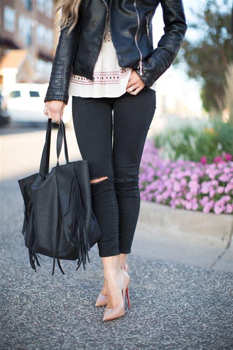 Leather Jacket & Skinny Jeans. - Mia Mia Mine