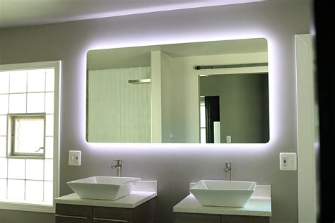 mirrors elegant backlit bathroom mirror modern