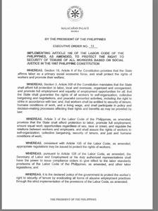 On Executive Order No. 51 of President Duterte's signed EO ...