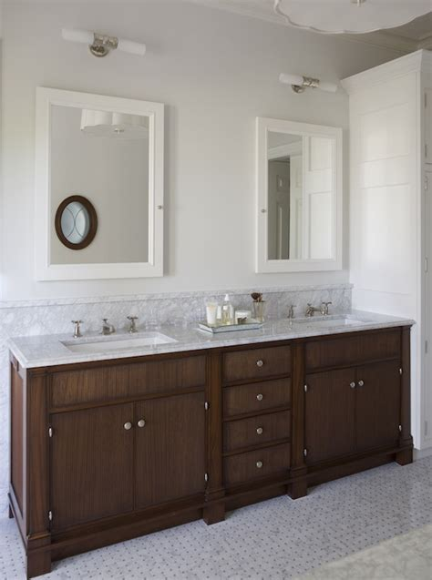 white framed medicine cabinet traditional bathroom