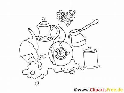 Zum Coffee Coloring Ausmalen Geschir Printable Ausmalbilder