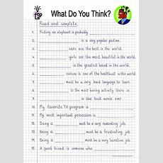 Read And Complete  What Do You Think? Worksheet  Free Esl Printable Worksheets Made By Teachers