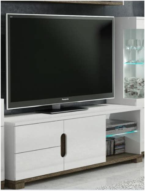 white gloss tv display unit  lights tv cabinets  deal