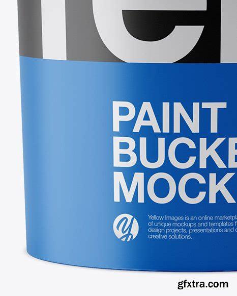 Free matte paper box mockup. 5L Matte Paint Bucket Mockup - Front View » GFxtra
