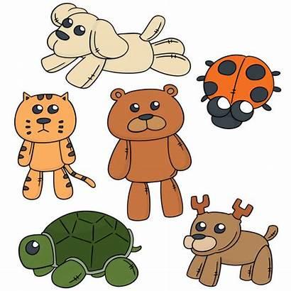 Stuffed Clip Vector Animals Illustrations Cartoons