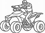 Coloring Atv Pages Drawing Printable Paper sketch template